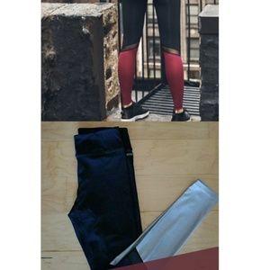 ALALA Black & Silver legging for Pure Barre